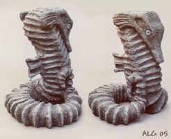 Stone Seahorse by Rebmakash