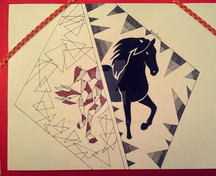 Horse multistyle (flash tattoo) by lugialagia