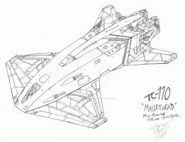 TC-110 'Mallethead' by WildSpaceSaga