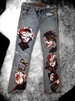 MCR pants - front finished by TaraMCRmy