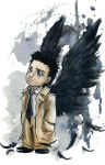 Cas Waiting by AmberStoneArt