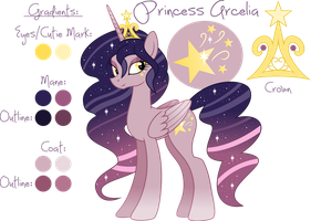 Princess Arcelia Reference Sheet by eipreD