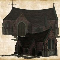 Premium Brick Chapel by Just-A-Little-Knotty