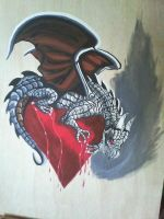 Bleeding Heart Dragon by ChaosSketch