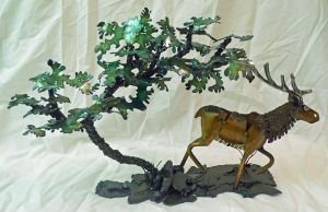 Trotting Elk Mantle Piece by Angi-kat