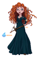 Merida - Brave by BubblyBlu