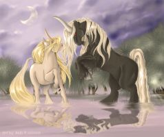 batifolage de kirins by Saki-BlackWing