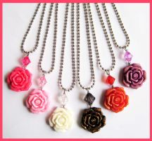 Roses Necklaces 2 by cherryboop