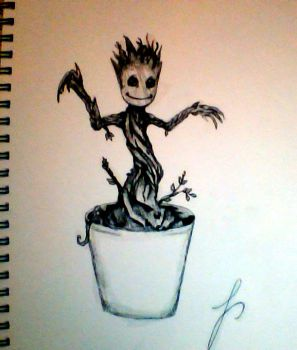 Baby Groot by livelifebelle