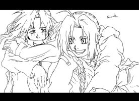 Edward Elric And Alphonse Elric by Randazzle100