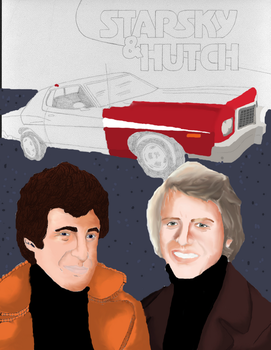 Collab: Starsky and  Hutch (WIP) by Stripesandangelwings