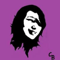 Edited Picture of me into Stencil Art by RumLady
