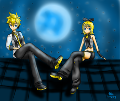 Black Star and Blue Moon by myinsanebestfriend