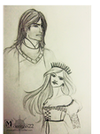 The hound and the Queen in the North by Morrigan22