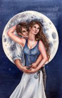 Full Moon by JannaFairyArt