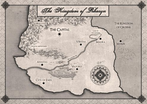 Commission: Map of Kingdom of Rhoryn by LenamoArt