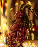 Expaje's Dread Satan Colored by kaze-fox