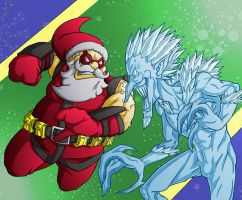 Secret Santa vs Ripper Frost Colored by ibroussardart