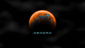 Ubuntu Orange Space by Kryuko
