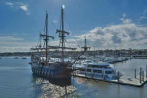 Spanish Galleon beside yacht January 20 2015 1 by ENT2PRI9SE