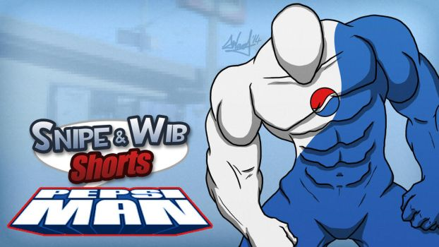 Snipe and Wib Shorts: Pepsiman Titlecard by SnipeTheSorrow