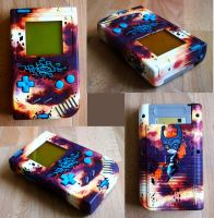 Twilight Princess themed Gameboy Repaint by Klaufi