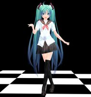 Ginjishi Sailor Miku MMD download by Reon046