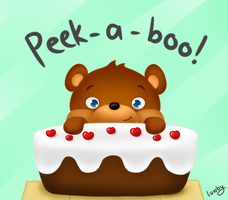 L for Leeeeee x cake peek-a-boo by luxby