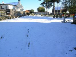 snow, churchyard oct 29th 29 by dark-dragon-stock