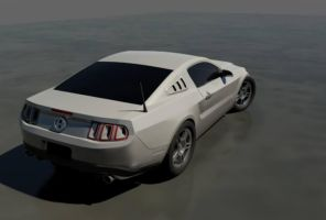 Mustang Boss 302 white by CapraruConstantin