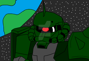 Zaku II Paint by DarthDizzle