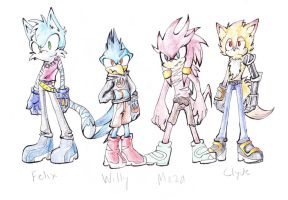 My sonic FCs by halfway-to-insanity