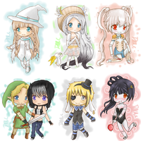 More gaia online chibi's! by DNAC