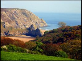Three Cliffs Bay by parallel-pam