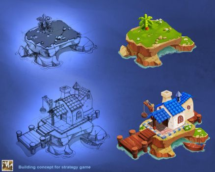 Building concept for strategy game by prosn