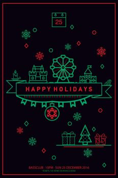 Happy Holidays Poster by UniversArtt