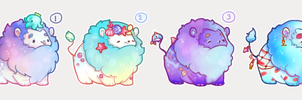 [CLOSED] Summery fluffy mini lions by miloudee