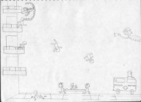Game and Watch Fire Sketch by TheBlackmanBrony