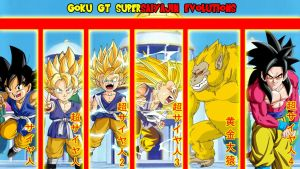 Goku GT Supersaiyajin Evolutions by gonzalossj3