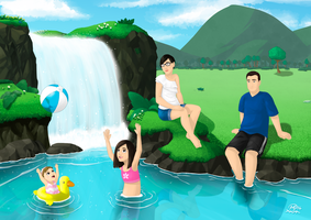 Family on the river by xionMart