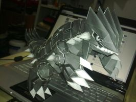 Groudon Papercraft 2 by LightSnake
