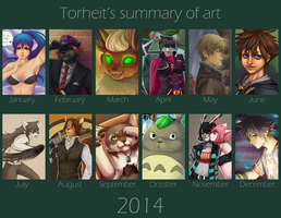 Summary of art 2014 by Torheit-die-Katze