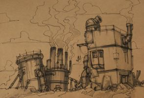 Scrapyard Settlement by SpaceCowSmith