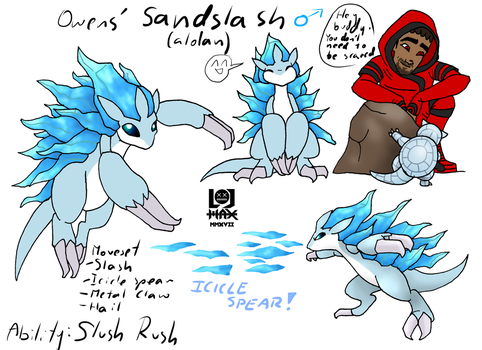 Owens' Sandslash Concept Art by Hlontro