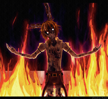 (FNaF3) .: It burns! :. (SpringTrap) by xXElectric-RibelXx