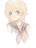 Rin Kagamine doodle by Lumies