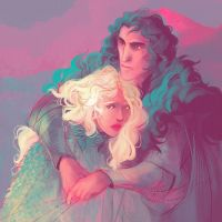 Color Challenge: Daenerys and Jon by kallielef