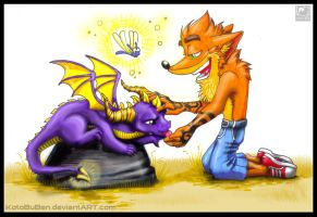 Crash Bandicoot and Spyro by Shakumi