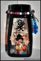 Giggling Geisha Candle Holder by Bonniemarie