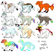 Dog Adopts Big Batch 10-18 points TWO LEFT, OPEN by ranidoptables